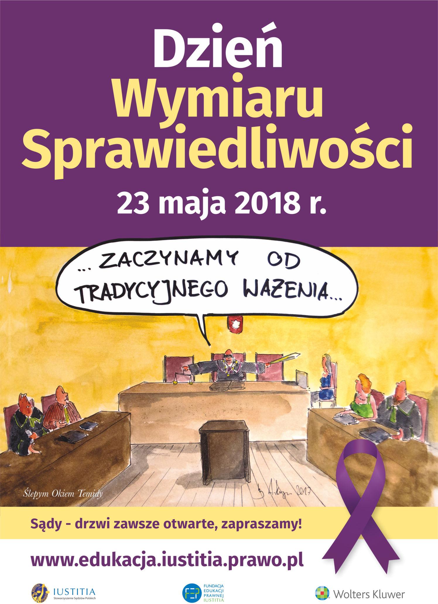 Dzień Wymiaru Sprawiedliwości - plakat 2018